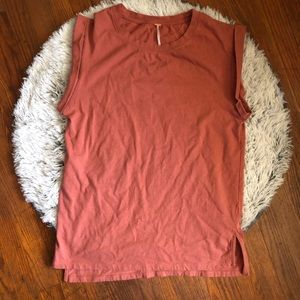Free People Cuffed Muscle Shirt Size XS